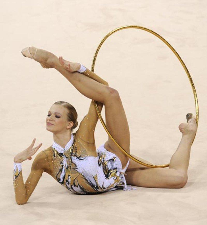 гимнастки в нейлоне